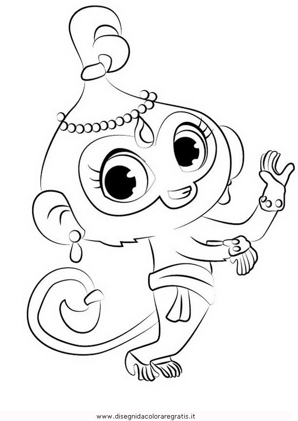 Disegno ShimmerShine03 personaggio cartone animato da colorare