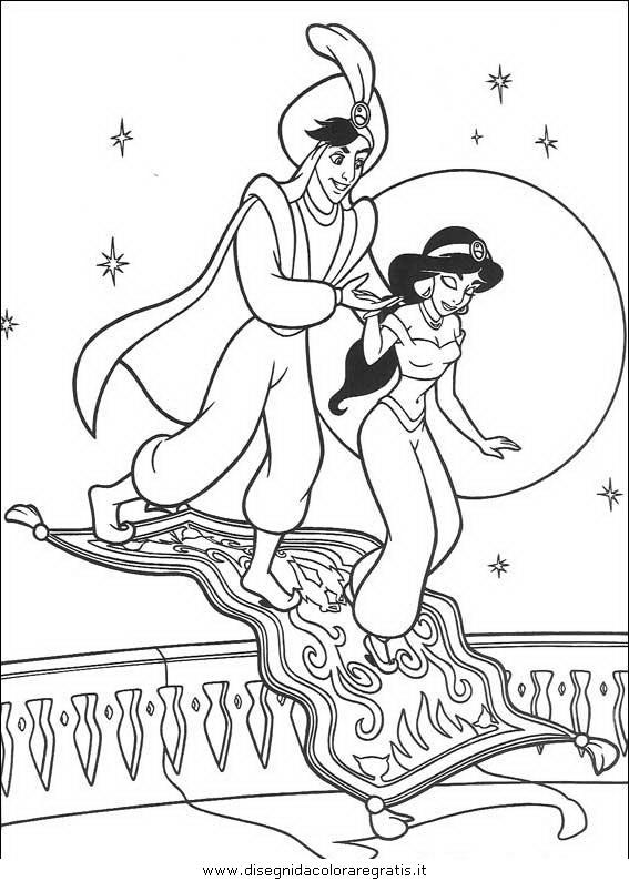 Disegno aladdin_40: personaggio cartone animato da colorare