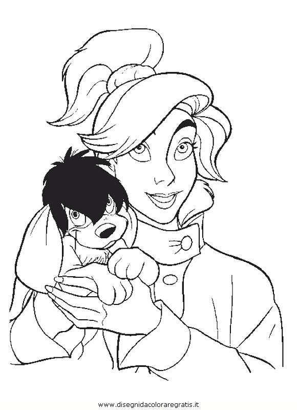 Disegno anastasia_22: personaggio cartone animato da colorare