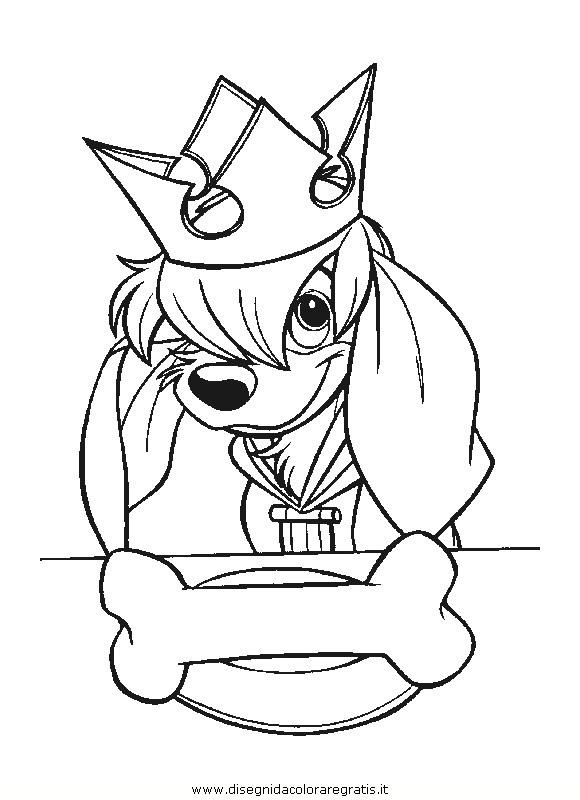 Disegno anastasia_29: personaggio cartone animato da colorare