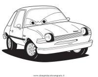 Disegno cars2_pacer: personaggio cartone animato da colorare