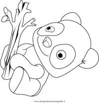 Disegno tao il panda: personaggio cartone animato da colorare