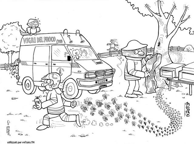 Disegno pompieri Espen Giorgio 01: personaggio cartone