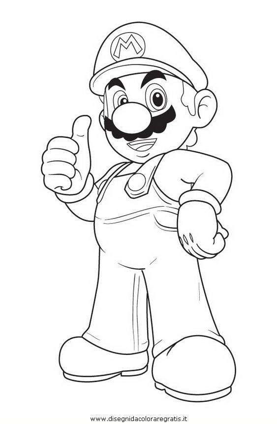 Disegno mario_bros_11: personaggio cartone animato da colorare
