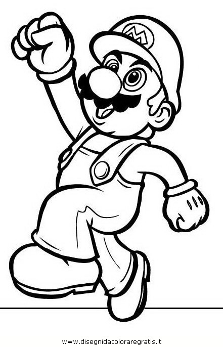 Free coloring pages of levle1 mario