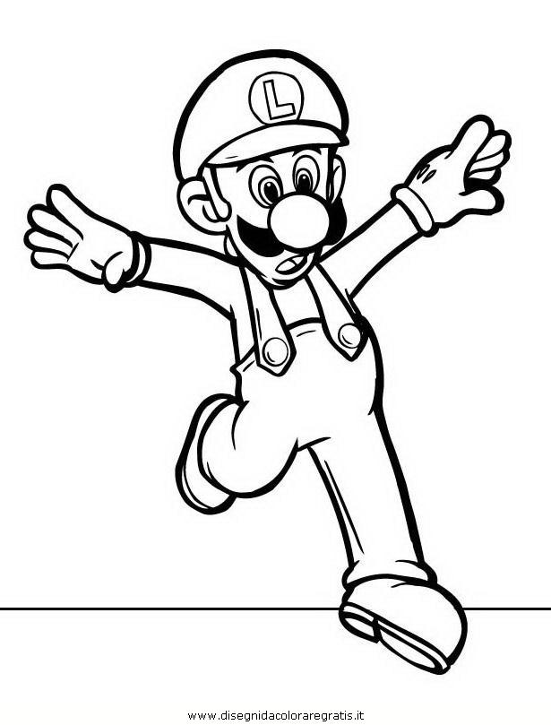 Disegno mario_bros_29: personaggio cartone animato da colorare