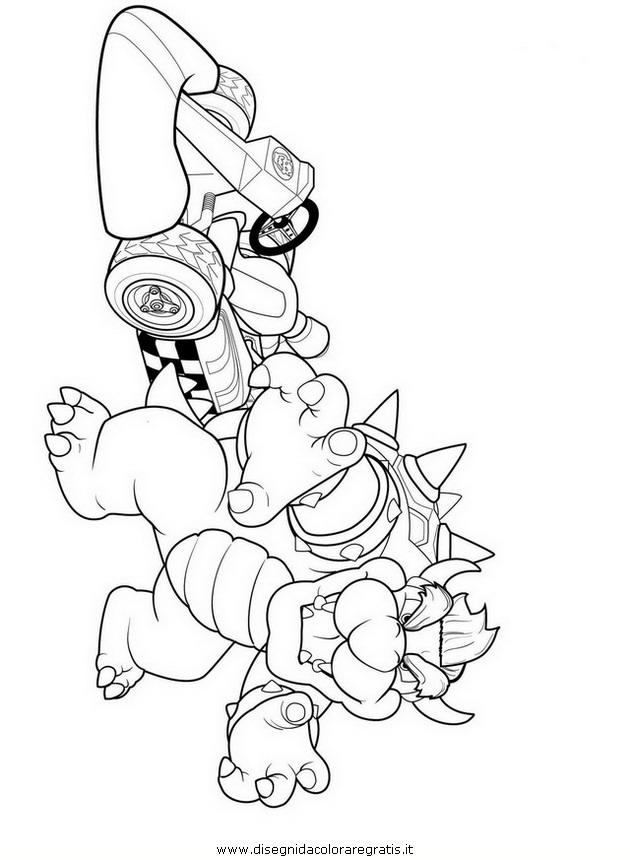 Disegno mario_bros_30: personaggio cartone animato da colorare