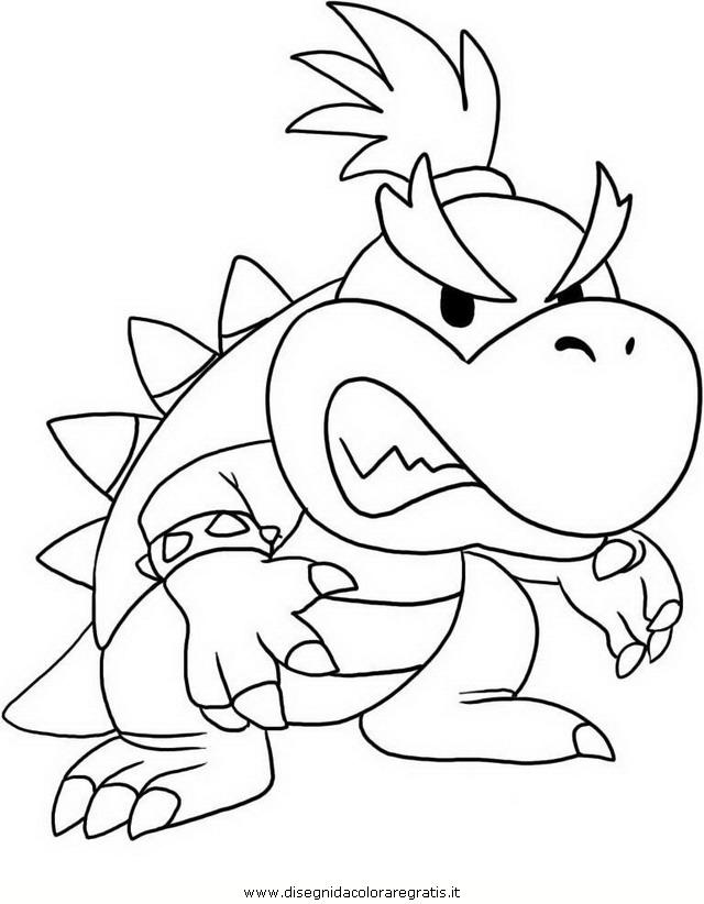 Disegno mario_bros_34: personaggio cartone animato da colorare