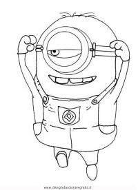 Disegno minions_28: personaggio cartone animato da colorare