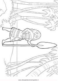 Disegno oceania-Vaiana-4: personaggio cartone animato da ...
