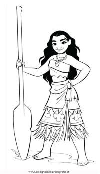 Disegno oceania-Vaiana: personaggio cartone animato da ...