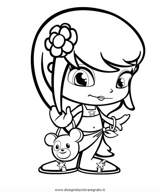 Disegno pinypon_3: personaggio cartone animato da colorare