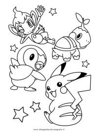 Kleurplaten Pokemon Turtwig.Piplup Coloring Pages