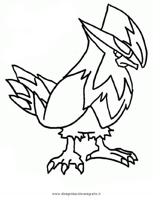 Pokemon Kleurplaten Riolu.Staraptor Coloring Pages
