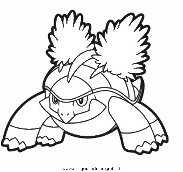 Grotle Pokemon Coloring Page
