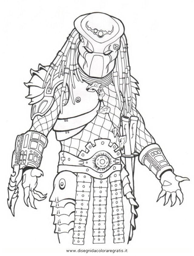 Disegno predators_5: personaggio cartone animato da colorare
