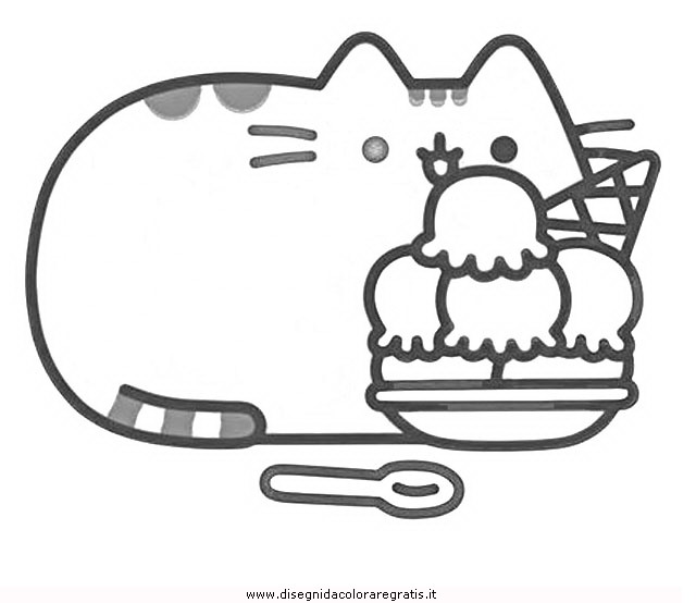 Disegno pusheen-27: personaggio cartone animato da colorare