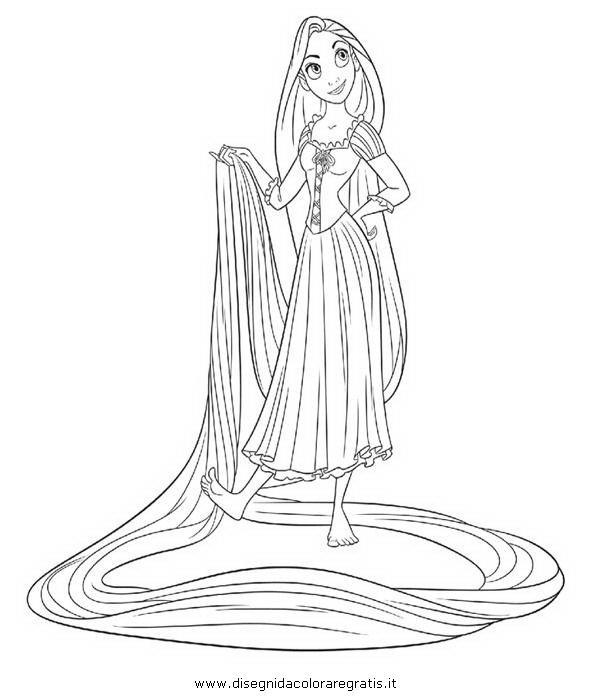 Rapunzel Disegno Da Colorare N 2