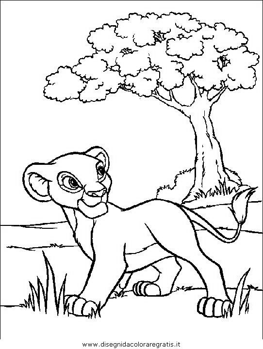 Disegno re_leone_116: personaggio cartone animato da colorare