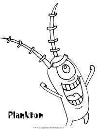 Disegno spongebob_08: personaggio cartone animato da colorare