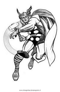 Disegno thor_1: personaggio cartone animato da colorare