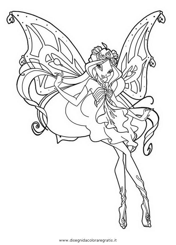 Disegno Flora Enchantix Personaggio Cartone Animato Da