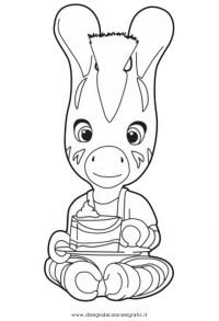 Disegno zou_5: personaggio cartone animato da colorare