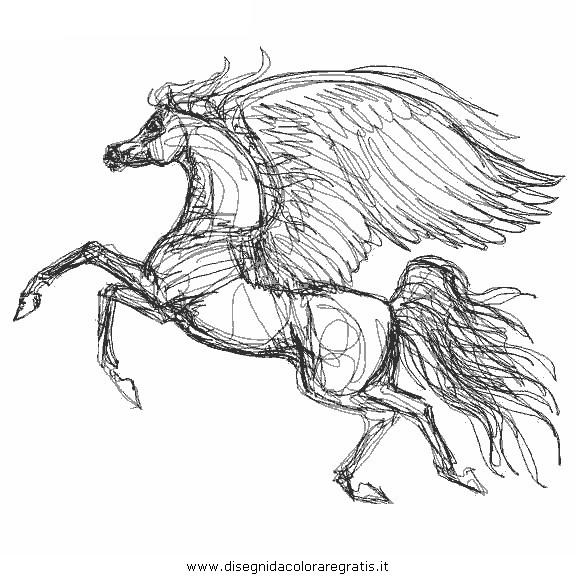 Disegno Pegaso Cavallo 34 Categoria Fantasia Da Colorare