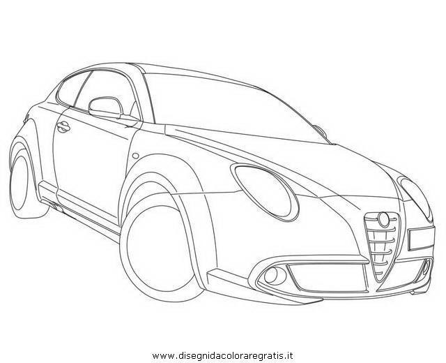 Disegno Alfa Romeo Mito categoria mezzi_trasporto da colorare