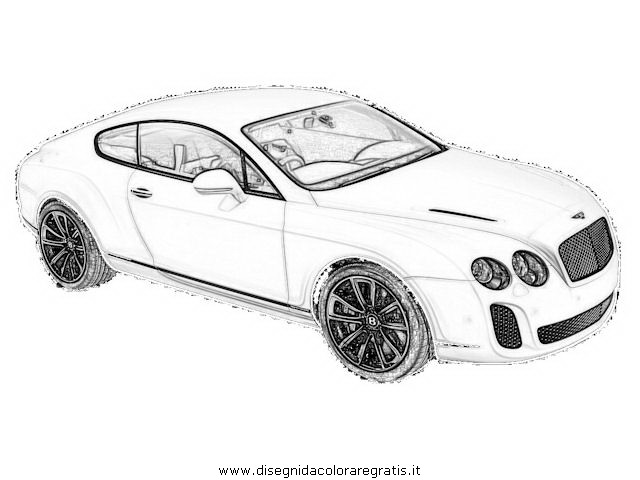 Bentley Continental Gt Coloring Pages Coloring Pages