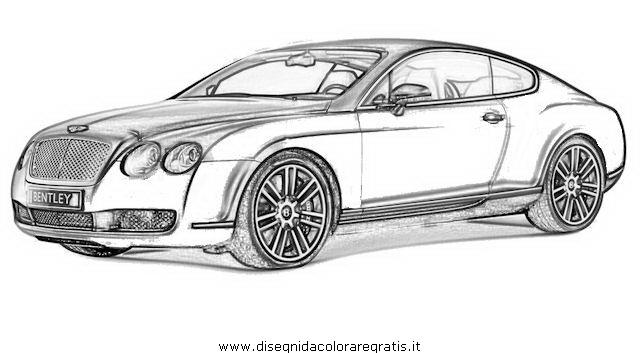 Disegno Bentley-Continental_2 categoria mezzi_trasporto da