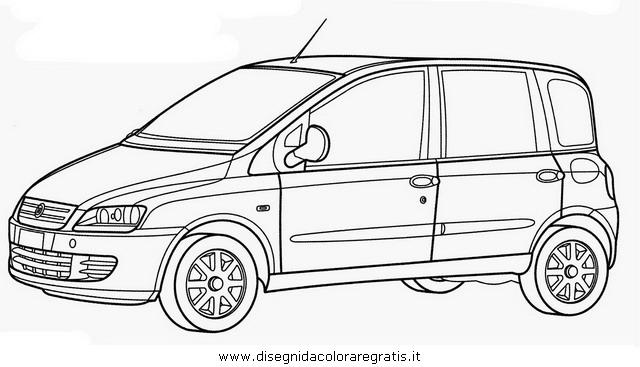 Disegno fiat_multipla categoria mezzi_trasporto da colorare