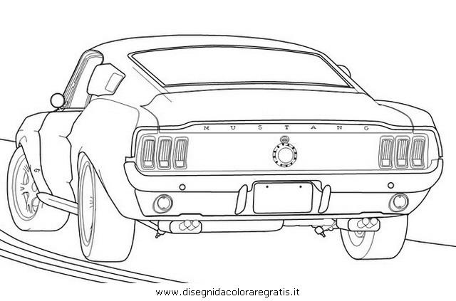 Disegno ford_mustang_3 categoria mezzi_trasporto da colorare