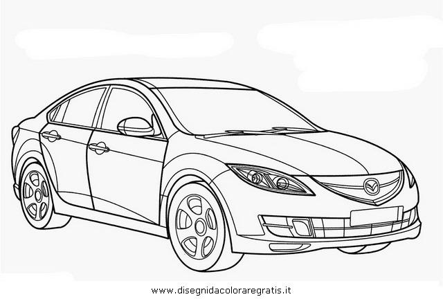 Disegno mazda_6 categoria mezzi_trasporto da colorare