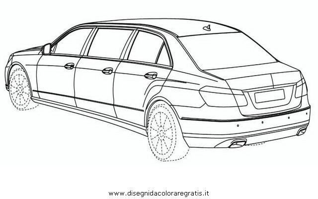 Disegno mercedes_limousine categoria mezzi_trasporto da