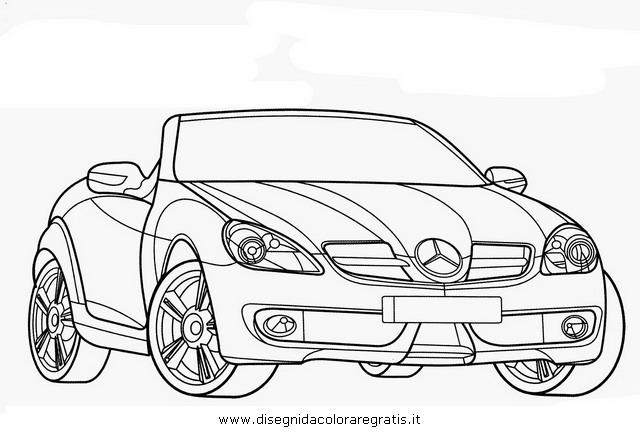 Disegno mercedes_slk categoria mezzi_trasporto da colorare