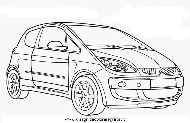 Disegno mitsubishi_colt categoria mezzi_trasporto da colorare