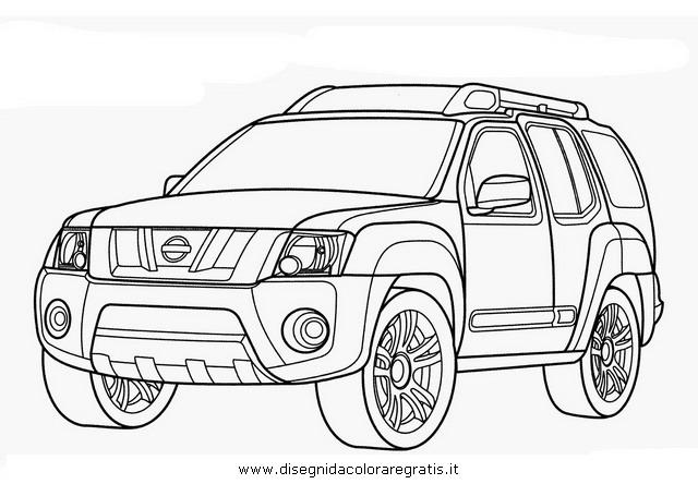 Disegno nissan_xterra categoria mezzi_trasporto da colorare
