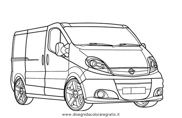 Opel Corsa 3 Door Sketch Coloring Page