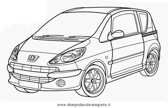 Disegno peugeot_1007 categoria mezzi_trasporto da colorare
