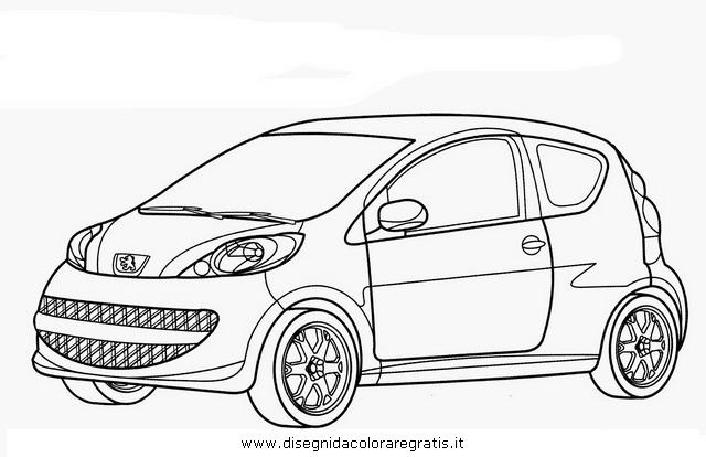 Disegno peugeot_107 categoria mezzi_trasporto da colorare