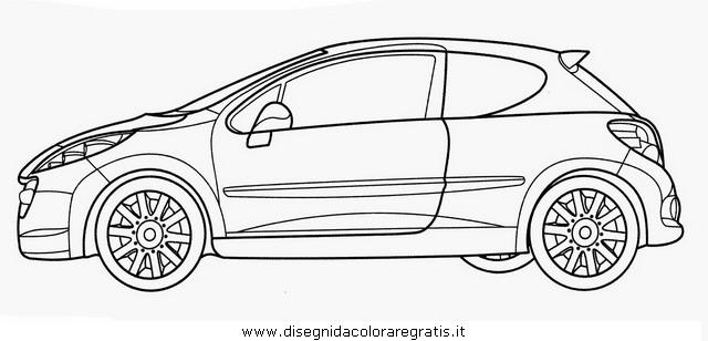 Disegno peugeot_207 categoria mezzi_trasporto da colorare