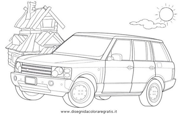 rang rover colour Colouring Pages