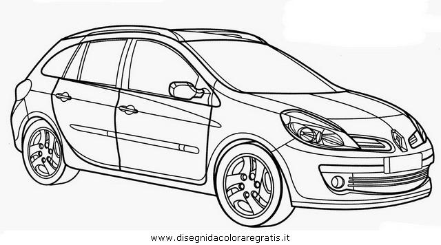 Disegno Renault_Clio categoria mezzi_trasporto da colorare