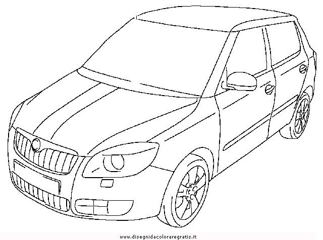 Skoda Octavia Sketch Coloring Page