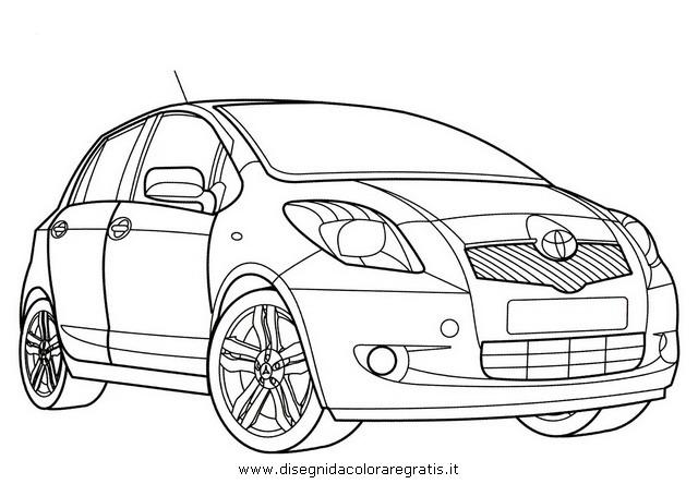 Disegno toyota_yaris categoria mezzi_trasporto da colorare
