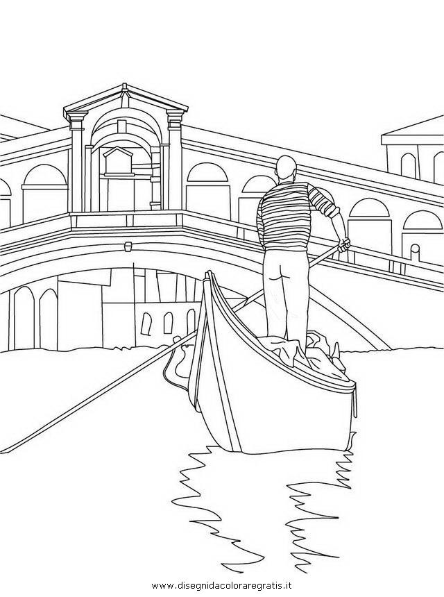 Disegno gondola_venezia_2 categoria mezzi_trasporto da