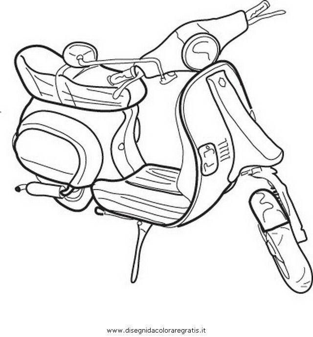 Disegno Scooter 4 Categoria Mezzi Trasporto Da Colorare