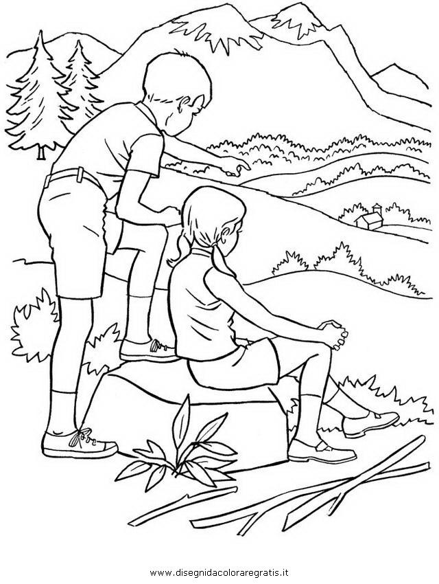 Disegno montagna_26 misti da colorare