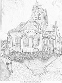Disegno van-gogh-la-chiesa-di-auvers misti da colorare
